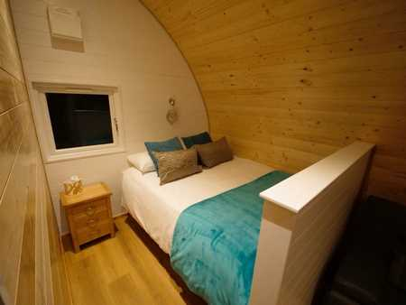 Our luxury pods include underfloor heating