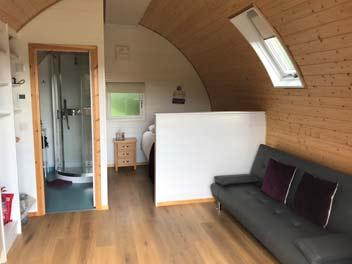 Inside Glamping Pod